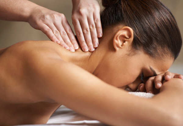 Anti-stress massage hoofd en nek schouders en rug voet massage
