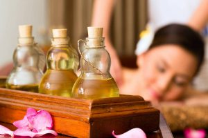 Thaise aroma olie massage therapie voor totale ontspanning